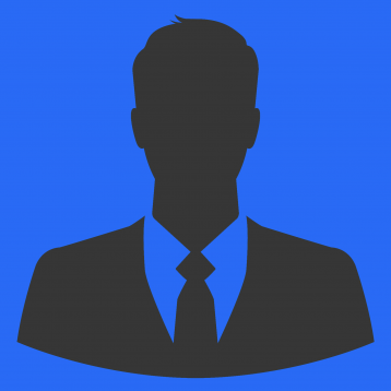 Businessman silhouette as avatar or default profile picture